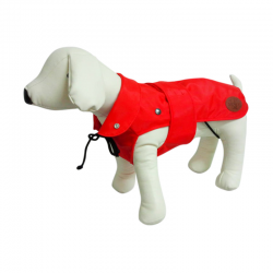 Dog Line Impermeabile London Classic Rosso