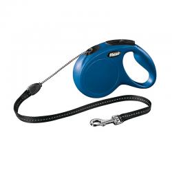 Flexi Guinzaglio New Classic Corda Blu