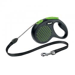 Flexi Guinzaglio Color Dots Corda Verde
