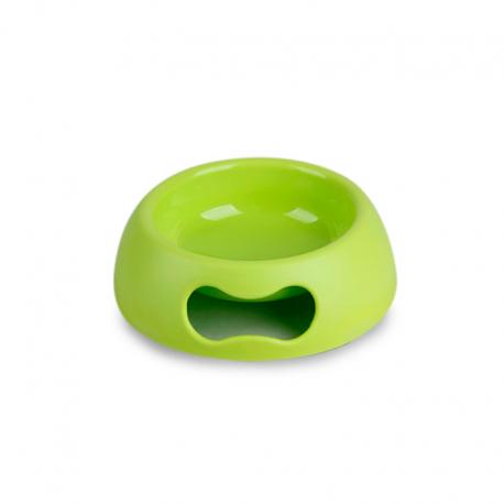 Ciotola Plastica Antiscivolo con Impugnatura Verde
