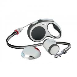 Flexi Vario SET Antracite: Guinzaglio+Multibox+LED