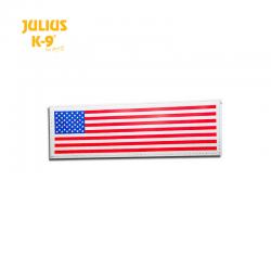 Julius K9 Coppia Etichette Bandiera USA