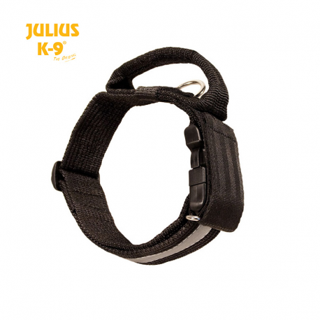 Julius K-9 Collare con Maniglia e Fascia Riflettente Nero