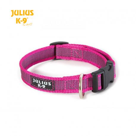 Julius K-9 Collare Color & Grey Nylon Fucsia