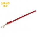 Julius K9 Guinzaglio Super-Grip Rosso - Senza Maniglia