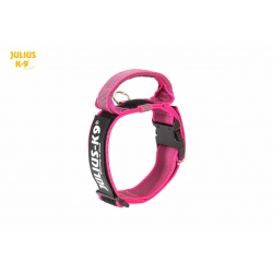 Julius K9 Collare Color & Grey Nylon Fucsia