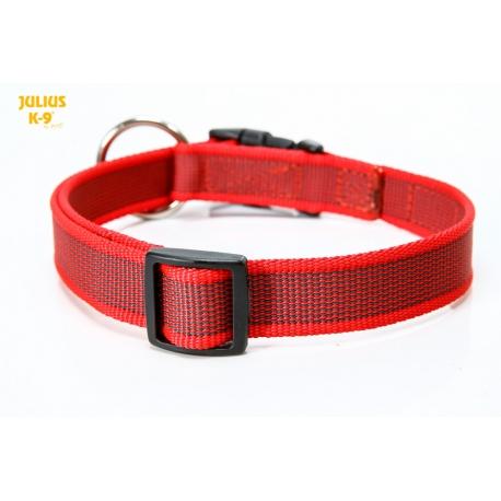 Julius K9 Collare Color & Grey Nylon Rosso