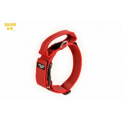 Julius K9 Collare Color & Grey Nylon Rosso