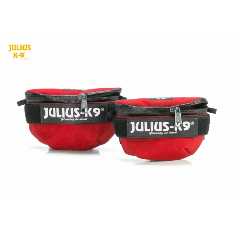 Julius K9 Borse Laterali Mini Universali Rosse