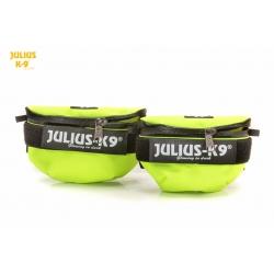 Julius K9 Borse Laterali Mini Universali Gialle Neon