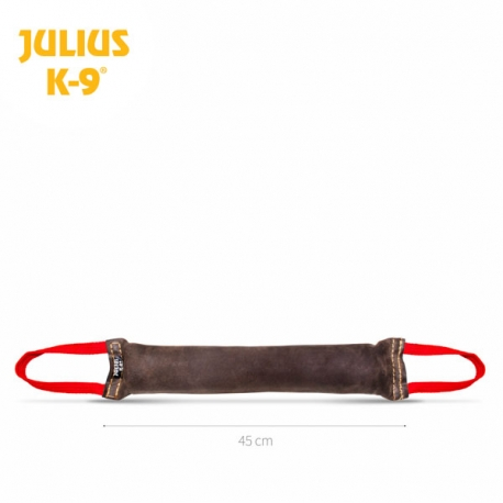 Julius K9 Tug in Pelle con Due Maniglie in Gomma