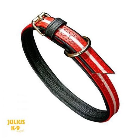 Julius K9 Collare IDC Lumino Rosso Fosforescente