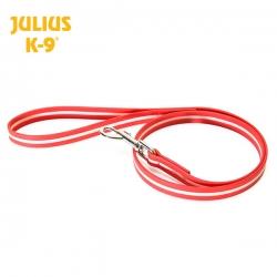Julius K-9 Guinzaglio IDC Lumino con Maniglia Rosso Fosforescente