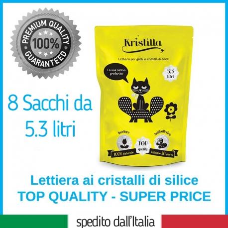 8 Sacchetti x 5,3 Litri - Kristilla Sabbia in Cristalli di Silice Offerta