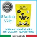 Offerta 8 Sacchetti x 5,3 Litri - Kristilla Sabbia in Cristalli di Silice