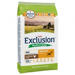 Exclusion Mediterraneo Adult Medium Breed con Pollo