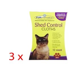 FURminator Shed Control Cloths Gatto 3 x 12pz