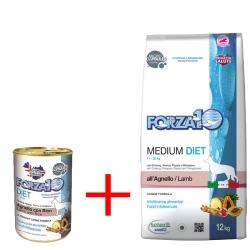 Forza 10 Medium Diet Agnello + Forza 10 Diet Agnello umido 12 pz x 400 gr